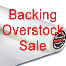 Backing Overstock Sale