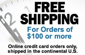 Free Shipping $100 plus orders
