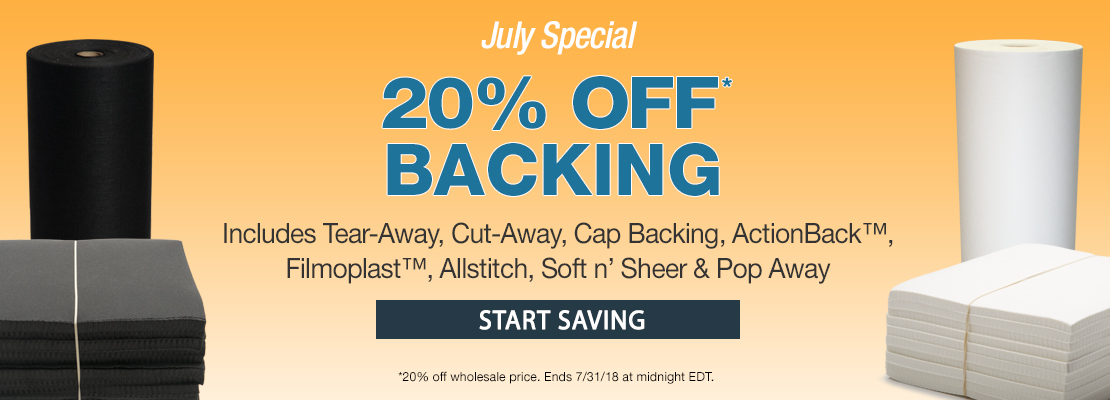 July Special - Backing Sale 2018