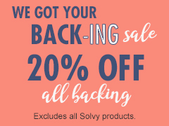 December Special - 15% Off Backing