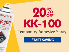 20% Off KK-100 Temporary Adhesive Spray