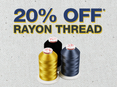 20% Off Rayon Thread
