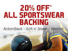 20% Off All Sportswear Backing