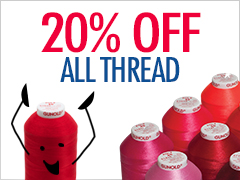 August Special - 20% Off All Thread