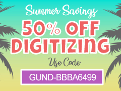 50% Off Digitizing Services